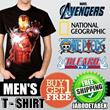 [BUY 1 GET 1 + FREE ONGKIR JABODETABEK] Mens T-Shirt Collection Kaos National Geographic / Kaos Superhero / Kaos Anime / Kualitas TerbaiK / Best Seller!!