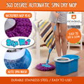 [FREE SHIPPING] 360 Degree Rotate Automatic Spin Dry Mop Set Durable Stainless Steel Easy to Use!