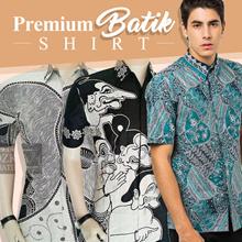 Mens Hem Batik Short Sleeve Shirt - Batik Adzkia - Premium Pekalongan