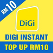 Digi instant Top UP RM10 (One mobile number can top up once per day only)