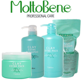 ★BUY $90 FREE SHIPPING★MoltoBene Clay Esthe EX Series Salon Products Shampoo 330ml/Pack 300g
