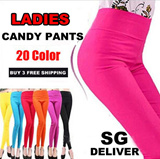 【SG Delivery】Buy 3 Free Shipping / 20 Color candy pants / Women Clothing / Leggings / Pants