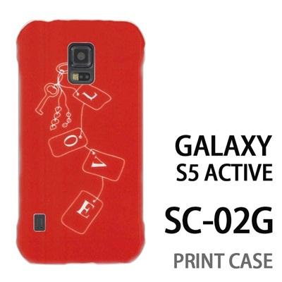 GALAXY S5 Active SC-02G 用『0828 Loveタグ ピンク』特殊印刷ケース【 galaxy s5 active SC-02G sc02g SC02G galaxys5 ギャラクシー ギャラクシーs5 アクティブ docomo ケース プリント カバー スマホケース スマホカバー】の画像