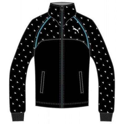 プーマ(PUMA) トレーニングジャケット 903663 04 ブラック/プーマ シルバー 【メンズ トレーニングウェア ランニング ジャージ】の画像