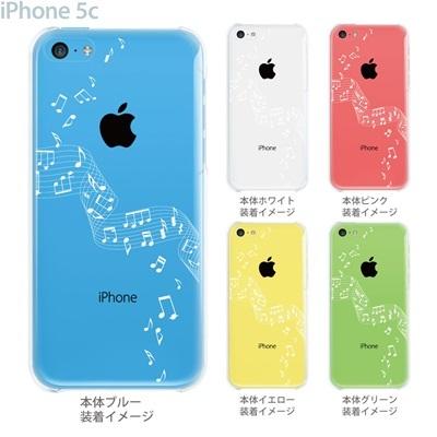 【iPhone5c】【iPhone5c ケース】【iPhone5c カバー】【ケース】【カバー】【スマホケース】【クリアケース】【ミュージック】【音符】 09-ip5c-mu0002の画像