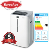 EuropAce Portable Air Conditioner (12000BTU) (EPAC-12P) /WITH REMOTE/ 5 YEARS WARRANTY ON COMPRESSOR 1 YEAR ON PARTS