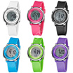 Colorful Cool Type Hip-hop Watch Vertical Letter 30m Waterproof Children Dress Watch Silicone Strap