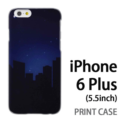 iPhone6 Plus (5.5インチ) 用『No3 都会の夜』特殊印刷ケース【 iphone6 plus iphone アイフォン アイフォン6 プラス au docomo softbank Apple ケース プリント カバー スマホケース スマホカバー 】の画像