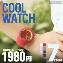 【 現在出荷中!! 】☆2017年夏のファッションアイテム時計!! ファッションシリコンCool WATCH 7OLOR 選べる7種類♪ レディース 腕時計 ホワイト