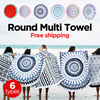 Qoo10 Japan Rank No.1 Bestseller Item!!! Large Round Beach Towel / Fringed Pool /Cotton Yoga Mat / Indian Mandala Round Roundie Beach Throw Tapestry Hippy Boho Gypsy Cotton Tablecloth Beach Towel / Ro
