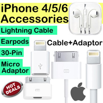 IPhone 4/5/6/6S/7/SE Accessories Lightning Cable 4/4S 30 Pin Cable Adaptor Earpod Ipad2/3/4/Air/Mini