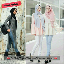 *Restock 17/1/17* Muslim Ladies Como Crepe Blouse | Kate Doll Top | Babydoll Top | Aleya Knot Wrap | Kimono Wrap | Split Long Top | Muslimah | Dress | Tops | Hijab | Shawls | Scarves |