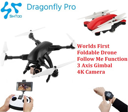Simtoo Dragonfly Professional 2.0 Foldable Follow Me Drone with 3 Axis Gimbal 4k Camera