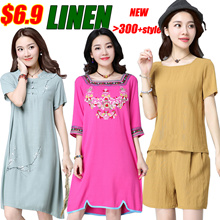 Promotional price Linen Dress/Tops/pants/Suit/Maternity dress/Short sleeves/Long sleeve