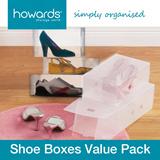 Howards Storage World -  Shoe Boxes Value Pack (Set of 15)