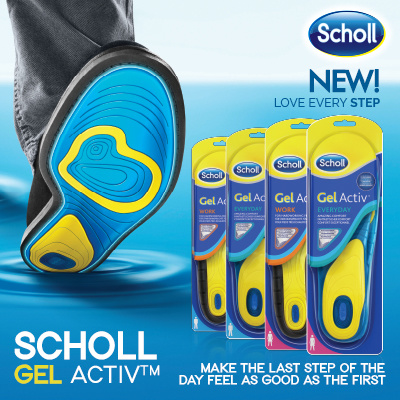 [RB] ?USE QOO10 $4 COUPON! FREE SCHOLL NAIL CARE SYSTEM!?Scholl GELACTIVE INSOLES | Feel Comfort! Deals for only S$49.9 instead of S$0