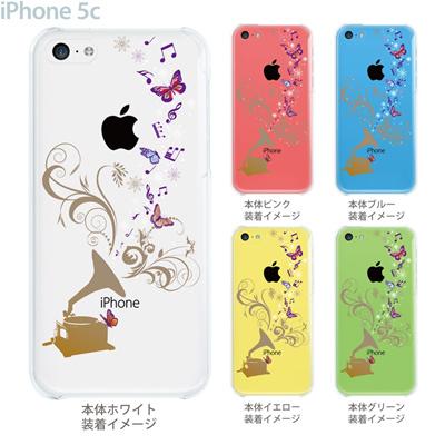 【iPhone5c】【iPhone5c ケース】【iPhone5c カバー】【ケース】【カバー】【スマホケース】【クリアケース】【クリアーアーツ】【蓄音機から蝶】 09-ip5c-th005の画像