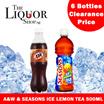 [CLEARANCE SALE] ANW ROOT BEER / SEASONS ICE LEMON TEA 6 BOTTLES X 500ML