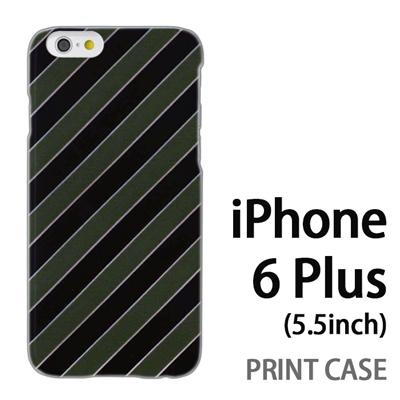 iPhone6 Plus (5.5インチ) 用『No3 抹茶ストライプ』特殊印刷ケース【 iphone6 plus iphone アイフォン アイフォン6 プラス au docomo softbank Apple ケース プリント カバー スマホケース スマホカバー 】の画像