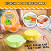 [5 pieces] Silicon Food Stretch Wrap / Reuseable / Heat Resistant / Air Tight Seal