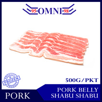[Omni Frozen] Pork Belly Shabu Shabu - 500g