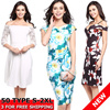 [NEW Colletion] Ladies Premium Evening DRESS UK Style Chiffon Party Dress Sexy Bandage Dresses For Dinner Women Night Club Midi Dress Fashion Off shoulder Floral Dresses Plus Size S-3XL