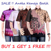 SALE !!! BUY 1 GET 1 FREE !!!  Batik Tops Men !!! - jogja market