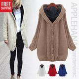 【FREE SHIPPING】 ★Premium good quality Applehana★ winter cardigan/ sweater