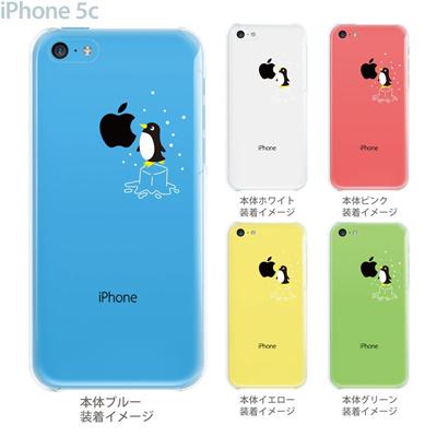 【iPhone5c】【iPhone5cケース】【iPhone5cカバー】【iPhone ケース】【クリア カバー】【スマホケース】【クリアケース】【イラスト】【クリアーアーツ】【ペンギン】 10-ip5cp-ca005bkの画像