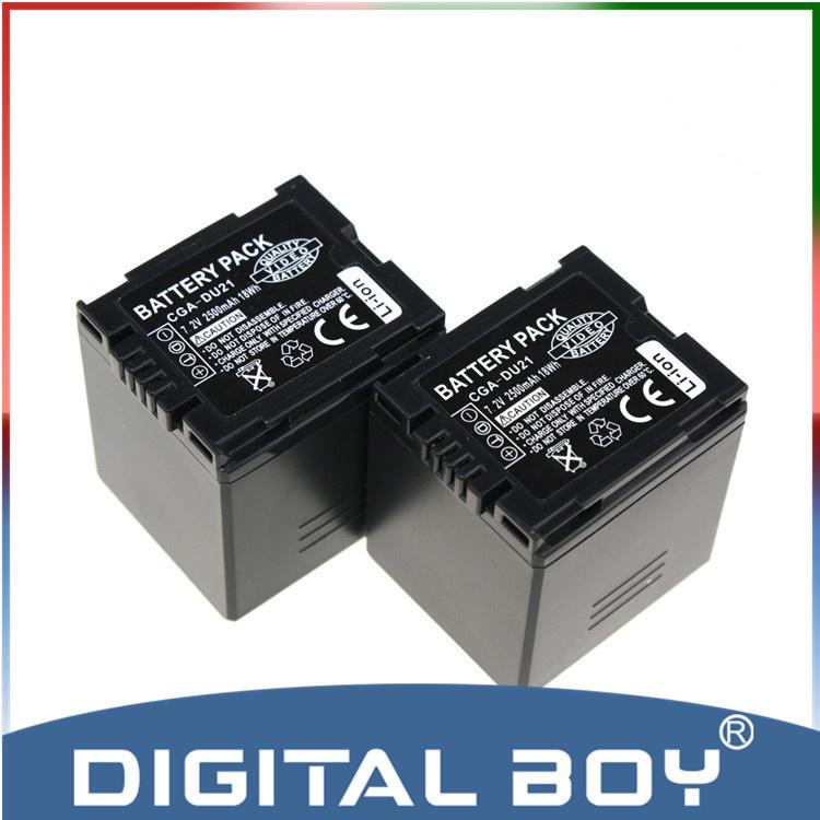 【クリックで詳細表示】Tianfen 2pcs/lot CGA-DU21 CGA DU21 2500mAh Battery For Panasonic CGR-DU06 CGA-DU06 DU12 CGA-DU21 DZ-GX20 DZ-MV750 PV-GS35 z1