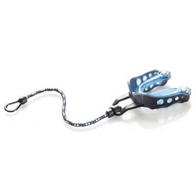 ショックドクター(SHOCK DOCTOR) マウスガード 6000シリーズ アダルト ブラック/ブルー ストラップ付き #6101A 【マウスピース ボクシング 格闘技】の画像
