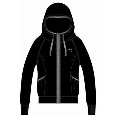 プーマ(PUMA) ニットジャケット 512271 01 ブラック 【レディース トレーニングウェア ランニング ジャージ パーカー】の画像