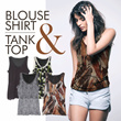 OPEN GROSIR!!SERBUUUU!!PROMO TODAY 1+1+1=3!!**BLOUSE SHIRT[CSSB2355]**TANK TOP[SM3401]**★CASUAL★BRANDED BLOUSE★COMFORTABLE