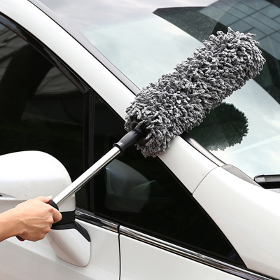 qoo10 super soft chenille nano fiber car duster with stainless steel extenda automotive. Black Bedroom Furniture Sets. Home Design Ideas