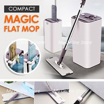 COMPACT MAGIC FLAT MOP/ HANDS FREE/ DURABLE/ SLEEK DESIGN/MICROFIBER CLOTH//WATER ABORBENT