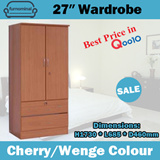 SALE! Furnominal.VTF 2768 / 27″ Wardrobe / Cherry / Wenge Colour