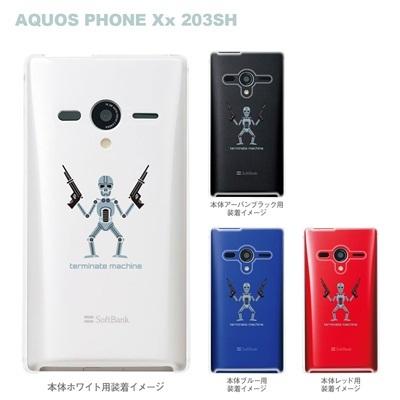 【AQUOS PHONEケース】【203SH】【Soft Bank】【カバー】【スマホケース】【クリアケース】【MOVIE PARODY】【ユニーク】【ターミネタ】 10-203sh-ca0029の画像