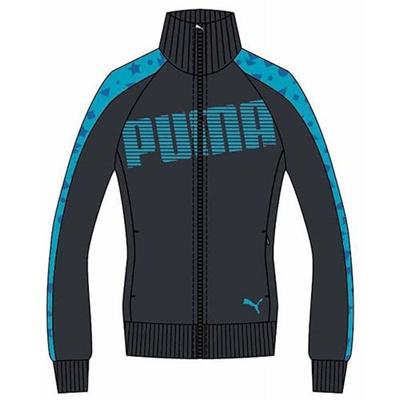 プーマ(PUMA) トレーニングジャケット 903667 03 エボニー 【レディース トレーニングウェア ランニング ジャージ】の画像