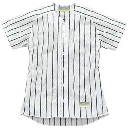 SSK(エスエスケイ) ストライプメッシュシャツ SSK-US002M  (1090)ホワイト×ブラック 【野球 一般用 試合 ユニホーム シャツ】