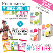Kinohimitsu Wellness SmoothD Cleansing Program (100% Natural) Juice Cleanse Instant and Convenient [Beautiful]