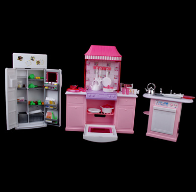 Qoo10 plastic dollhouse furniture deluxe kitchen play for Qoo10 kitchen set