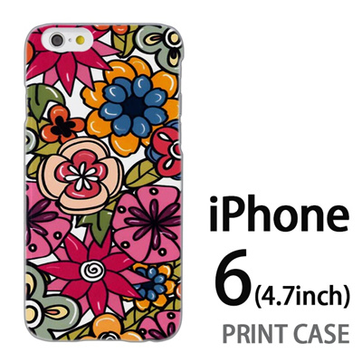 iPhone6 (4.7インチ) 用『0618 トロピカルフラワー』特殊印刷ケース【 iphone6 iphone アイフォン アイフォン6 au docomo softbank Apple ケース プリント カバー スマホケース スマホカバー 】の画像