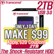 [MAKE $99!] TRANSCEND Portable HDD 2TB Store-Jet 25A3 USB 3.0
