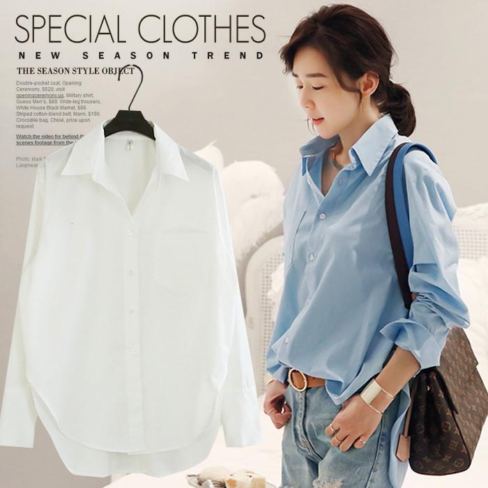 【送料無料】爽やかでコーデをスタイリッシュに仕上げてくれるトレンドのロングシャツ。シャツワンピース 白 ロング/ロングシャツ 大きいサイズ/ロングシャツワンピース/シャツ ブラウ