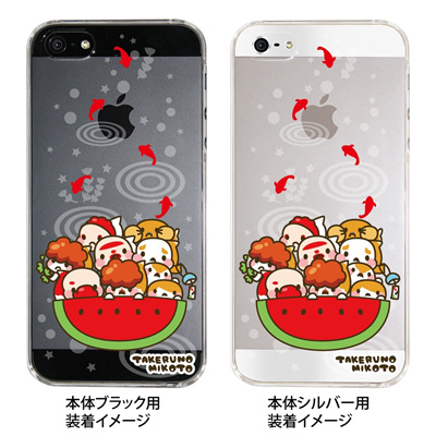 【iPhone5s】【iPhone5】【タケルノミコト】【Clear Arts】【iPhone5ケース】【カバー】【スマホケース】【クリアケース】【アート】【金魚】【スイカ】 45-ip5-tm0001の画像