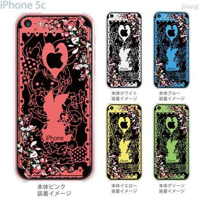 【iPhone5c】【iPhone5cケース】【iPhone5cカバー】【iPhone ケース】【スマホケース】【クリアケース】【クリア】【イラスト】【アート】【Little World】【不思議の国のアリス】【三月ウサギ】 25-ip5c-amc003の画像