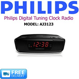 PHILIPS - Digital Tuning Clock Radio - MODEL: AJ3123 - FREE DELIVERY!