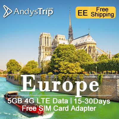 europe sim card30 dayseurope 48countries5gb 4g data uk - Europe Travel Sim Card