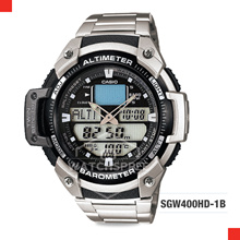 *CASIO GENUINE* Casio Thermometer Twin Sensor Mens Watch SGW400HD-1B. Free Shipping!