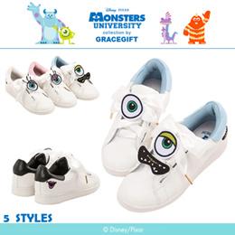 ♥New Arrival♥Gracegift-Disney/PIXAR Monsters University Patch Lace Up Sneakers/Women Shoes